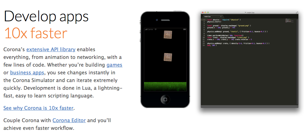 Build amazing Apps and Games 10x Faster.